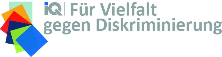 Wortbildmarke: IQ Netzwerk - Für Vielfalt gegen Diskriminierung