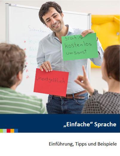 """Faltblatt mit Tipps zur Anwendung der """"einfachen Sprache"""""""