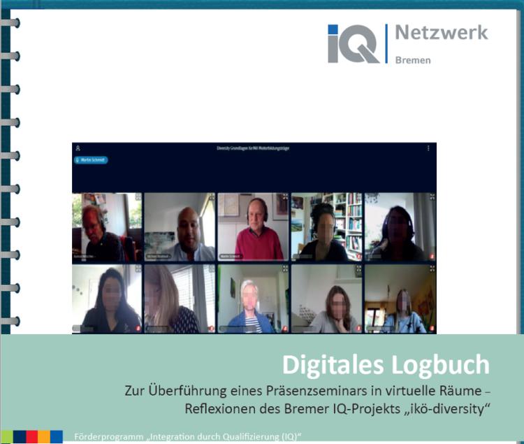"Cover der IQ-Publikation ""Digitales Logbuch""."